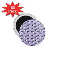 Purple Eyeballs 1 75  Magnets (100 Pack)  by boho
