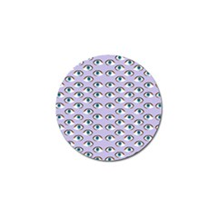 Purple Eyeballs Golf Ball Marker by boho