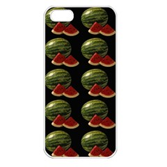 Black Watermelon Apple Iphone 5 Seamless Case (white) by boho