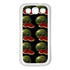Black Watermelon Samsung Galaxy S3 Back Case (white) by boho