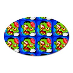 Zombies Oval Magnet by boho