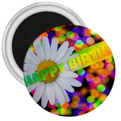 Happy Birthday 3  Magnets by boho