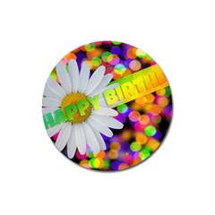 Happy Birthday Magnet 3  (round) by boho