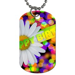 Happy Birthday Dog Tag (one Side) by boho