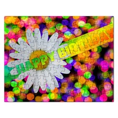 Happy Birthday Rectangular Jigsaw Puzzl by boho