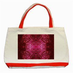 Pink Glitter Classic Tote Bag (red) by boho