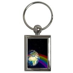 Earth Key Chains (rectangle)  by boho