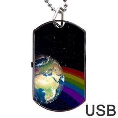 Earth Dog Tag Usb Flash (two Sides) by boho