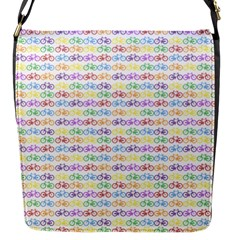Bicycles Flap Messenger Bag (s) by boho