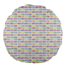Bicycles Large 18  Premium Flano Round Cushions by boho