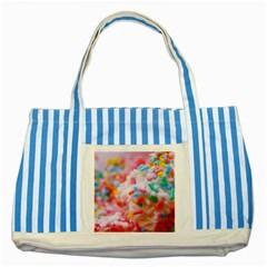 Birthday Cake Striped Blue Tote Bag by boho
