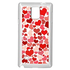 Red Hearts Samsung Galaxy Note 4 Case (white) by boho