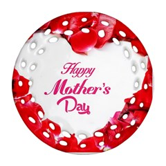 Happy Mothers Day Round Filigree Ornament (Two Sides)