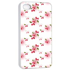 Vintage Cherry Apple Iphone 4/4s Seamless Case (white) by boho