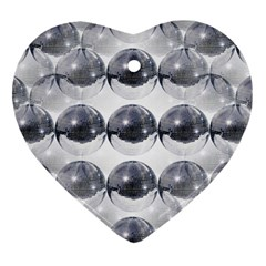 Disco Balls Heart Ornament (two Sides) by boho