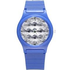 Disco Balls Round Plastic Sport Watch (s) by boho
