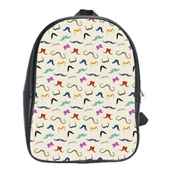 Mustaches School Bags (xl)  by boho
