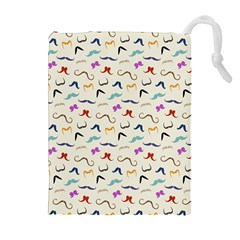 Mustaches Drawstring Pouches (Extra Large) by boho
