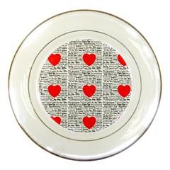 I Love You Porcelain Plates