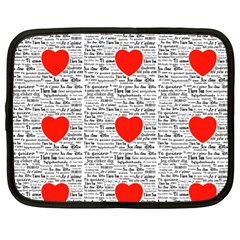 I Love You Netbook Case (xl)  by boho