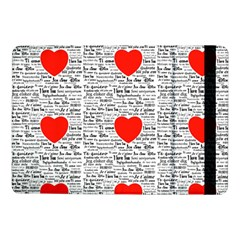 I Love You Samsung Galaxy Tab Pro 10 1  Flip Case by boho