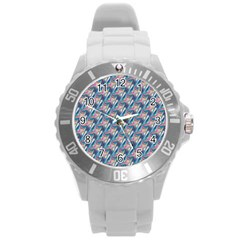 Holographic Hologram Round Plastic Sport Watch (l) by boho