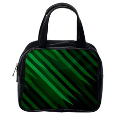 Abstract Blue Stripe Pattern Background Classic Handbags (one Side) by Simbadda