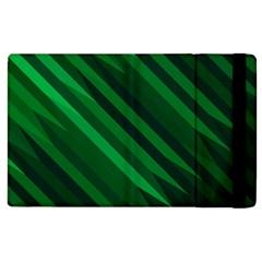Abstract Blue Stripe Pattern Background Apple Ipad 3/4 Flip Case by Simbadda