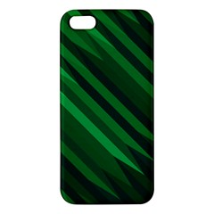 Abstract Blue Stripe Pattern Background Apple Iphone 5 Premium Hardshell Case by Simbadda