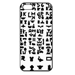 Anchor Puzzle Booklet Pages All Black Apple Iphone 5 Seamless Case (black) by Simbadda