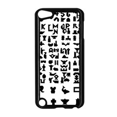 Anchor Puzzle Booklet Pages All Black Apple Ipod Touch 5 Case (black) by Simbadda