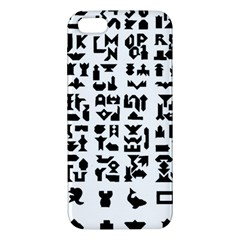 Anchor Puzzle Booklet Pages All Black Apple Iphone 5 Premium Hardshell Case by Simbadda