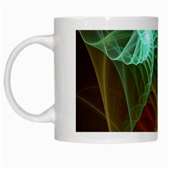 Art Shell Spirals Texture White Mugs by Simbadda