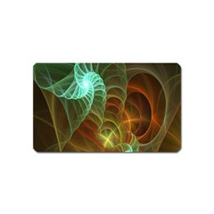 Art Shell Spirals Texture Magnet (Name Card) by Simbadda