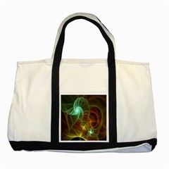 Art Shell Spirals Texture Two Tone Tote Bag by Simbadda
