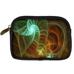 Art Shell Spirals Texture Digital Camera Cases by Simbadda