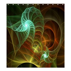 Art Shell Spirals Texture Shower Curtain 66  X 72  (large)  by Simbadda