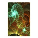 Art Shell Spirals Texture Shower Curtain 48  x 72  (Small)  42.18 x64.8 Curtain