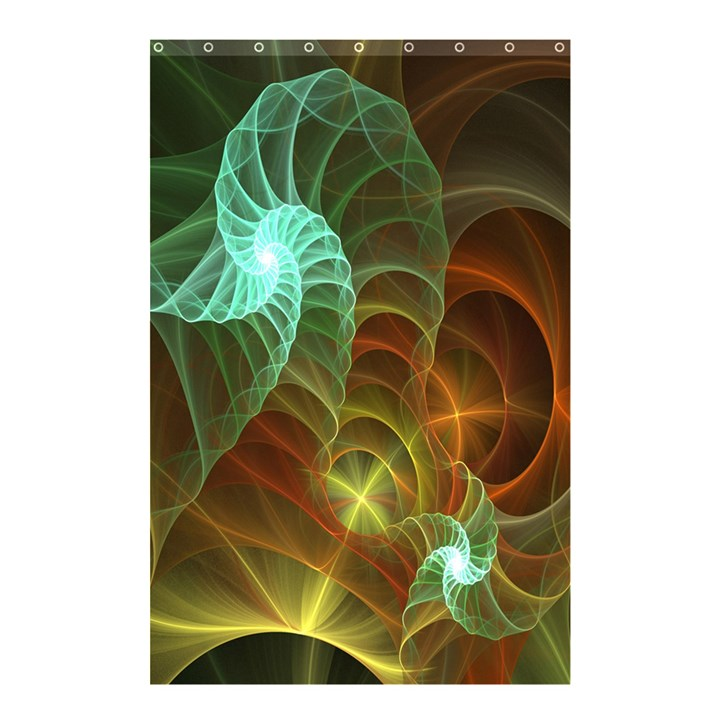 Art Shell Spirals Texture Shower Curtain 48  x 72  (Small)
