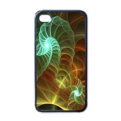 Art Shell Spirals Texture Apple Iphone 4 Case (black) by Simbadda