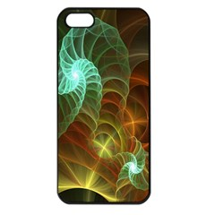 Art Shell Spirals Texture Apple Iphone 5 Seamless Case (black) by Simbadda