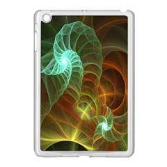 Art Shell Spirals Texture Apple Ipad Mini Case (white) by Simbadda