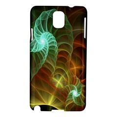 Art Shell Spirals Texture Samsung Galaxy Note 3 N9005 Hardshell Case by Simbadda
