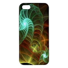 Art Shell Spirals Texture Iphone 5s/ Se Premium Hardshell Case by Simbadda