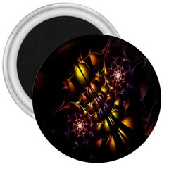 Art Design Image Oily Spirals Texture 3  Magnets by Simbadda