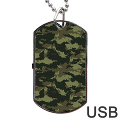 Camo Pattern Dog Tag Usb Flash (one Side) by Simbadda