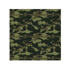 Camo Pattern Small Satin Scarf (square)