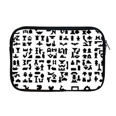 Anchor Puzzle Booklet Pages All Black Apple Macbook Pro 17  Zipper Case