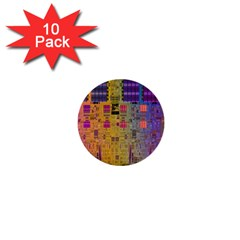 Circuit Board Pattern Lynnfield Die 1  Mini Buttons (10 Pack)  by Simbadda