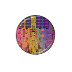 Circuit Board Pattern Lynnfield Die Hat Clip Ball Marker (4 Pack) by Simbadda